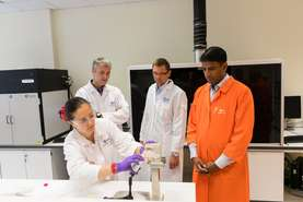 Novartis CEO Vas Narasimhan visited Development Center Slovenia, biggest and best-equipped center of its kind in Sandoz.