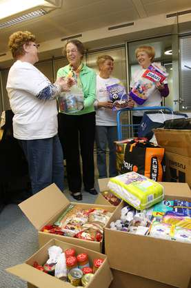 Lek pensioners were collecting food and personal hygiene items