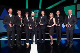 Chamber of Commerce and Industry of Slovenia Award winners 2012 - Vojmir Urlep in the middle