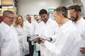 Vas Narasimhan also visited development and production of biological and biosimilar medicines in Biopharmaceuticals in Mengeš.