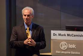 Dr. Mark A. McCamish spoke about development of biosimilars