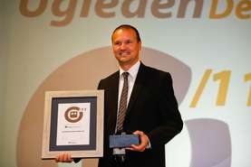 Samo Roš, Head of Human Resources and Member of the Lek Board of Management upon receiving the award