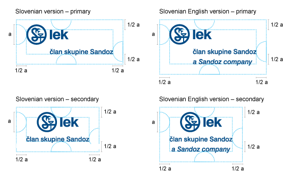 Minimum empty space around Lek logotype with endorsement