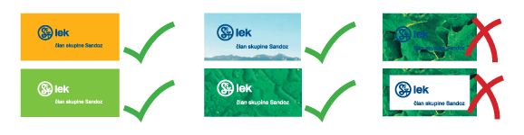 Lek logotype on a background